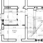 Bourací práce - příčka u koupelny je značena jako konstrukce, která má zůstat